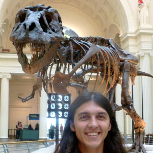Chris and T. rex